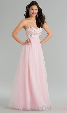 Prom Dresses, Celebrity Dresses, Sexy Evening Gowns - PromGirl: Strapless Sweetheart Floor Length #prom #dresses #gowns