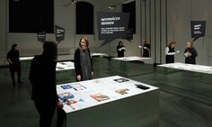 The exhibition graphics and content required maximum participation from the visitors - from observing to interacting and communicating on different levels.