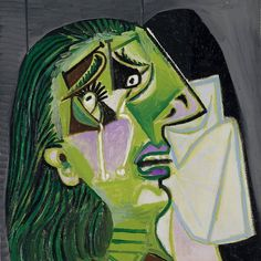 """""""Art washes from the soul the dust of everyday life."""" – Pablo Picasso. See this work on Level 2 at NGV International. Free entry. #NGV #NGVCollection #PabloPicasso #WeepingWoman    Image: Pablo Picasso   Weeping woman (1937)  National Gallery of Victoria, Melbourne ©️ Pablo Picasso/Succession Pablo Picasso. Licensed by Viscopy, Australia"""