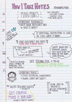 Note taking strategies, note taking tips, study skills, study tips, learning centers Study Tips For High School, High School Hacks, Life Hacks For School, College Hacks, College Humor, Back To School Tips, Middle School Hacks, College Notes, School Notes