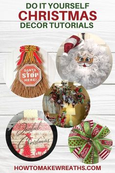 We would love to just share some of our favorite DIY Christmas decor! They are so festive, colorful, and can definitely get you in the Christmas spirit. #howtomakewreaths #decoexchange #DIY #christmasdecor #wreathtutorials #christmasdecorations