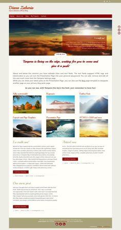 WordPress site dianazaharia.com uses the Tempera wordpress template