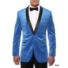 Ferrecci Men's Slim Fit Shawl Collar Velvet Tuxedo Blazer by Ferrecci