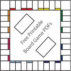Free Printable Board Game Templates Make your own board games using these blank template versions of popular games.Make your own board games using these blank template versions of popular games. Future Classroom, Classroom Activities, Classroom Organization, Board Game Organization, Literacy Games, Diy Organisation, Phonics Games, Articulation Activities, Vocabulary Activities