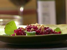 Get Anne Burrell's Roasted Beet Salad with Pears and Marcona Almonds Recipe from Food Network