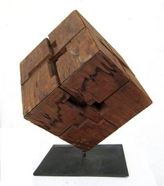 #TonyRosenthal Museum quality maquette of  famous Tony Rosenthal Public Art Sculpture titled Alamo. This 1966 plywood sculpture, 22 x 17 x 17 inches. Rosenthal Family Collection, Southhampton, NY.  Art ©Tony Rosenthal/Licensed by VAGA, New York, NY vagarights.com The Estate of Tony Rosenthal is represented Internationally by Joseph K. Levene Fine Art, Ltd. http://josephklevenefineartltd.com
