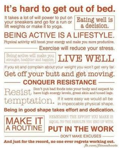 Health and Fitness Mantra.