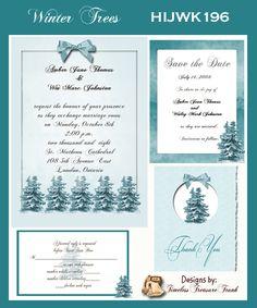 Winter Trees Wedding Invitations Print Them Yourself