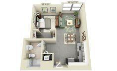 Фото из статьи: 15 классных планировок маленьких квартир