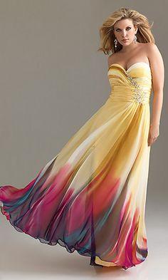 1st  choice  Print Strapless Plus Size Dress at SimplyDresses.com