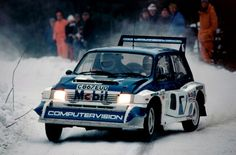 MG Metro rally car Race Car Track, Race Cars, Classic Sports Cars, Classic Cars, Course Automobile, Monster Car, Rally Car, Car And Driver, Peugeot 206