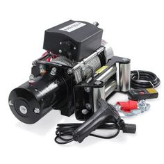 Arksen Recovery Electric Winch 12V 9500lbs Capacity Wireless Remote Towing Truck Trailer ATV Line, Black