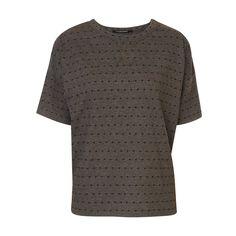 T-shirt jacquard à pois