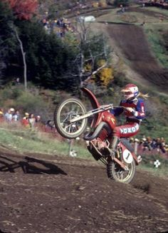 Marty Smith won his 12th, and last, AMA National at Unadilla in 1977. Dick Miller Archives