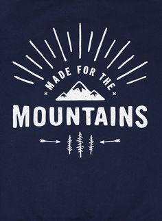 Made For The Mountains graphic jumper – The Level Collective – hand screen-printed in Sheffield, UK onto our ethically made 100% organic cotton navy jumpers