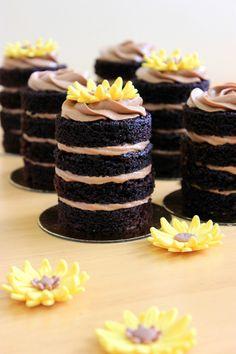 Kiara`s cakes: Tartas individuales de chocolate / Individual chocolate cake