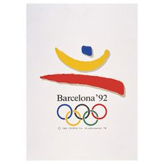 Poster from the 1992 Barcelona Olympics. I love the simplicity of the design.