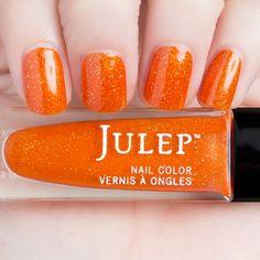 Pam It Girl Julep Orange Nail Polish via @nailmypolish