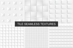 White and gray tile textures set by ExpressShop on @creativemarket