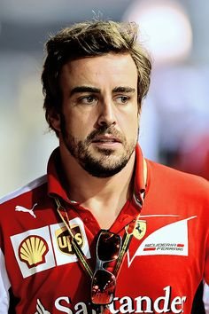 Fernando Alonso in the #F1 Paddock at the 2014 Formula One Grand Prix @ Singapore
