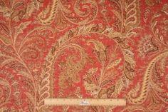 Braemore Omar Printed Linen Blend Drapery Fabric in Spice $11.95 per yard