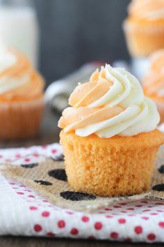 Orange Cream Pop Cupcakes