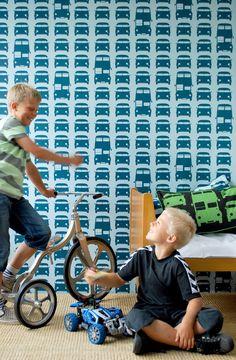 Ferm Living behang Rush Hour | Kinderkamer, decoratie, meubels, accessoires en kinderkleding