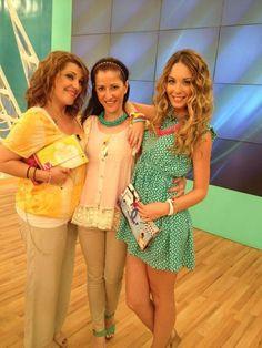 Katerina Zarifi and Antonia Kallimoukou with LovelyHandMade Clutches by Dristela...