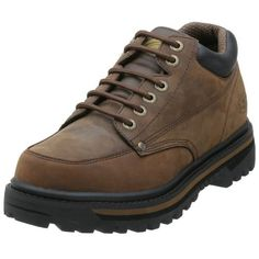 """Skechers Men's Mariner Utility Boot Skechers. $41.99. leather. This rugged lace-up is seriously comfortable. Lace up front with durable metal eyelets. Shaft measures approximately Ankle"""" from arch. Rubber sole. Lightly cushioned insole. Padded collar for ankle support. Leather upper with metal rivet reinforcements"""