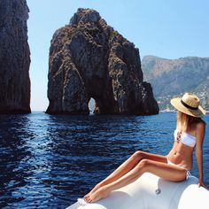 """""""Every day on the Amalfi Coast was a dream  Wearing @victoriassecret #ThanksVS"""""""