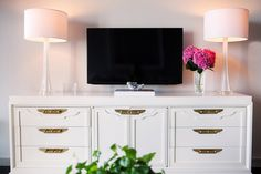 We refinished this gorgeous credenza for The Interior Stylist - check out her home tour and snag a vintage piece for your own at www.scoutdesignstudio.com