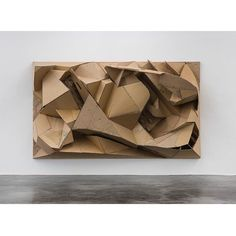 Repost from via - Florian Baudrexel Ronic 2016 (cardboard) Cubist Sculpture, Cardboard Sculpture, Cardboard Art, Modern Sculpture, Wall Sculptures, Cardboard Design, Cardboard Relief, Complex Art, Motif Art Deco