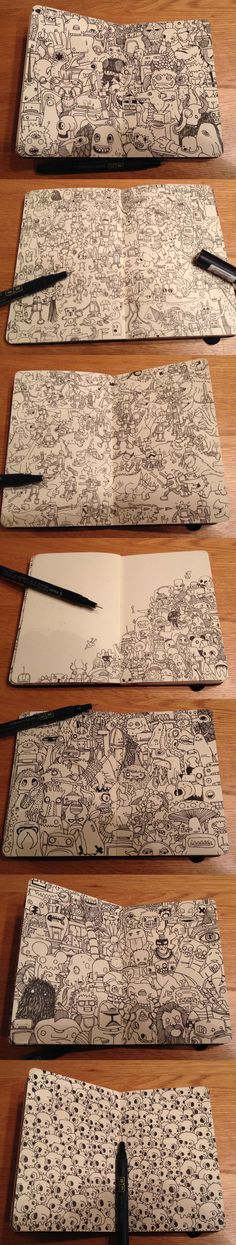 Going through my moleskin and I have realised that I have drawn loads this year already.