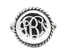 Sterling Silver Polished Signet Rope Edge Round Ring with Engraving Sz 8 * Find out more about the great product at the image link.Note:It is affiliate link to Amazon.