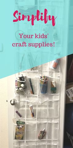 Easiest way to organize kids' craft supplies! Simple way to keep crayons, colored pencils, glue, paint, etc. in reach, easy to find, and easy to keep clean. Co Parenting, Single Parenting, Kids Craft Supplies, Crafts For Kids, Separation And Divorce, Organize Kids, Craft Organization, Crayons, Declutter