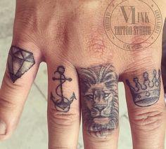 Finger // knuckle tattoos ❥ Men Finger Tattoos, Finger Tattoo For Women, Small Wrist Tattoos, Tattoos For Women, Tattoos For Guys, Forarm Tattoos, Knuckle Tattoos, Sleeve Tattoos, Chess Tattoo