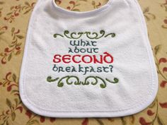 Lord Of The Rings Themed Baby Bib by KayNoel on Etsy Baby Necessities, Baby Crafts, Gift List, Baby Bibs, Lord Of The Rings, Tequila, Middle Earth, Lotr, Clothing Ideas