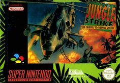 Jungle Strike SNES by EA - I'm still waiting for the day that EA release all of the Strikes (Jungle, Urban, Desert and Soviet) on one Cartridge/Disk