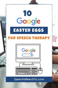 Google Easter Eggs are so fun to play around with and would make a really enjoyable lesson to get older students talking and engaged in speech therapy. In this post, I'm sharing 10 Google Easter Eggs you can start using during your teletherapy or online speech therapy sessions. - Speech is Beautiful #teletherapy #googleeastereggs #funspeechtherapy #onlinespeechtherapy