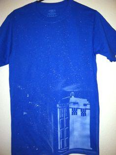 TARDIS in the Stars Shirt by LunaLovegoodIsOk on Etsy, $17.00