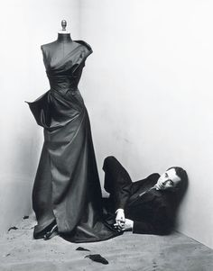 Designer Charles James in a photo by Irving Penn, 1948
