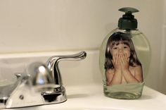 Put your kids inside the soap dispenser