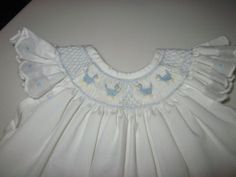 Vintage 1970s hand smocked baby