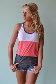 Piace Boutique - Tri As You May Tank (2 colors) in Tops #piaceboutique