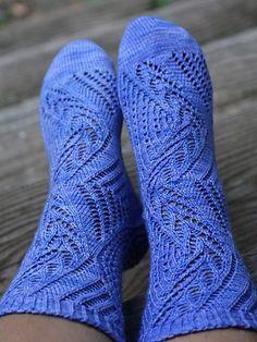 Fancy lace socks. Ravelry: Pride pattern by Jeannie Cartmel