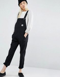 Image result for womens black utilitarian overalls