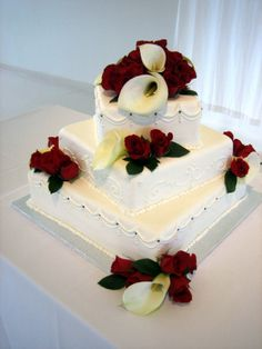 calla lily wedding cakes | Wedding Hairstyles Dresses Cakes Invitations