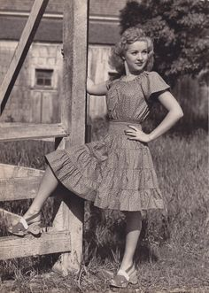 Betty Grable in some amazing shoes, 1942.
