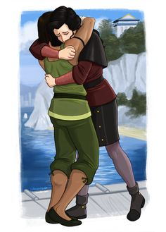 Hug after 3 years //korrasami Korra Avatar, Team Avatar, Aang, Korrasami, Avatar Series, Fire Nation, Speed Paint, Legend Of Korra, The Last Airbender