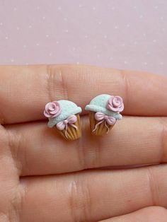 Cupcake Earrings Food Earrings Foodie Gift Small Earrings